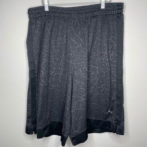 Nike- Dri Fit Black & Grey Athletic Shorts